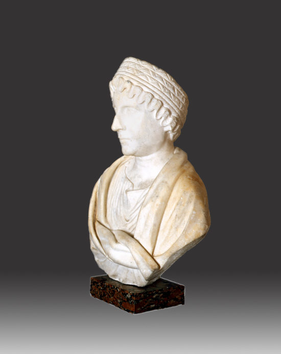 A Marble Portrait Bust of a Woman, possibly Faustina Major