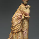 A Large Terracotta Statuette of the Muse Polymnia