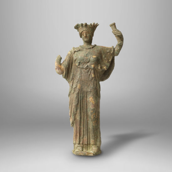 A Large Bronze Figure of Athena