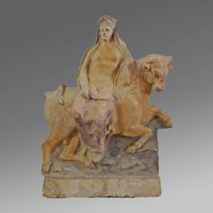 A terracotta antefix with Europa sitting on the bull