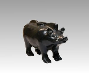 A Campanian Black-Glazed Askos in the Form of a Wild Boar