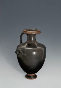 AN ATTIC BLACK-GLAZED HYDRIA