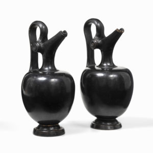 A Pair of Black-Glazed Epichyses