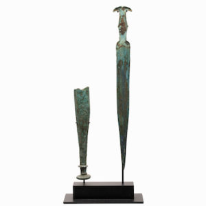 A Bronze Short-Sword with Fragmentary Scabbard