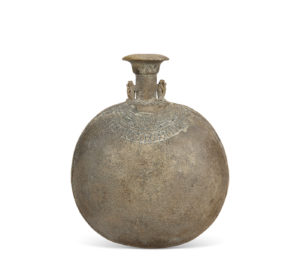 An Egyptian Faience New Year's Flask