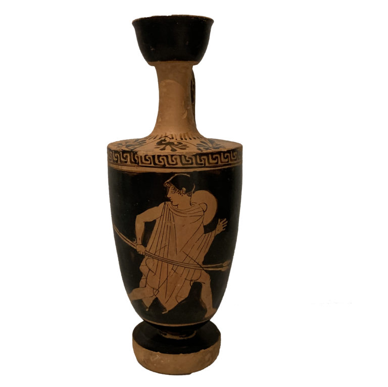 An Attic Red-Figure Lekythos, attributed to the Aischines Painter