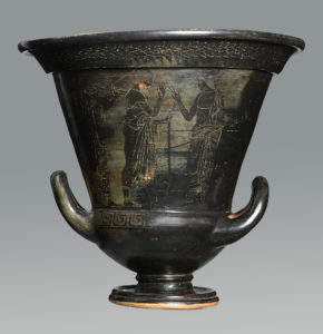 An important Etruscan calyx krater