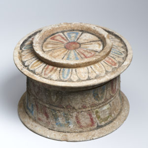 A Canosan pottery pyxis with lid
