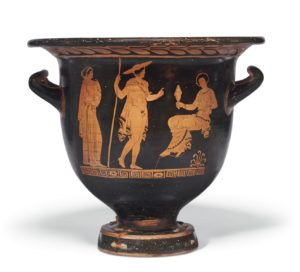 A red figure bell krater attributed to the Creusa Painter